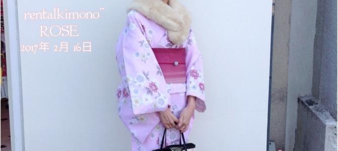 ピンクのお着物