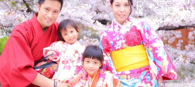 桜の下でロケ撮影♡