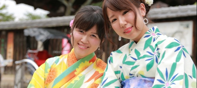 【お客様の声】ブランド浴衣で京都・東山女子旅のロケ撮影