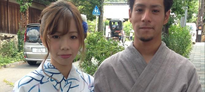 暑い日は涼しげなカラーの浴衣で爽やかに京都観光