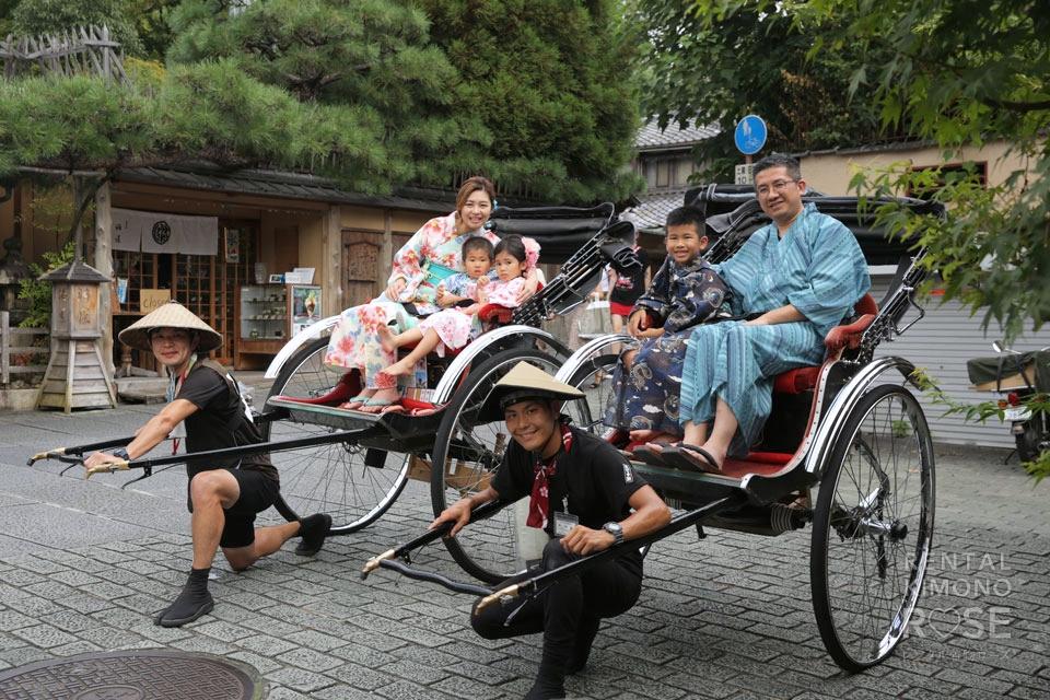 写真:香港からのお客様と、人力車×ロケーション撮影☆