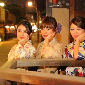 写真:美しい三姉妹さまで祇園白川ロケーション撮影