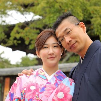写真:台湾からのラブラブ新婚カップル様と幸せロケ撮影