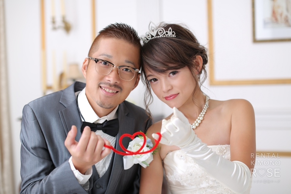 写真:早くも大人気!ドレス前撮り婚礼スタジオ撮影サンプル