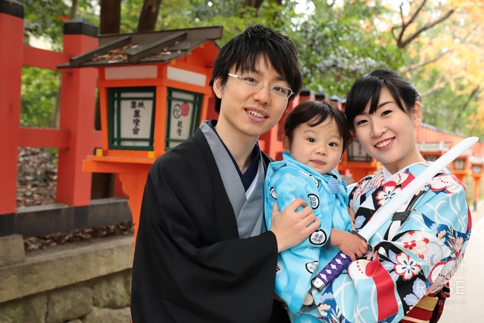 写真:ご家族で誕生日の記念に!東山ロケーション撮影☆
