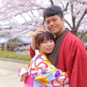 写真:外国からのカップル様(*´∀`*)ノ東山でラブラブフォト♡
