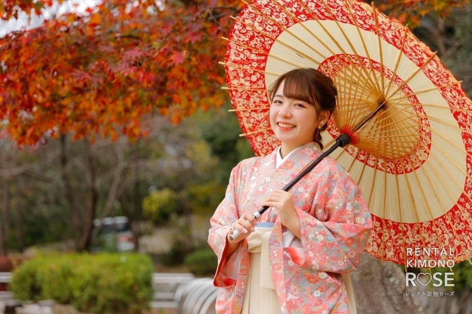 写真:京都・高台寺公園や八坂庚申堂でアンティーク袴ロケ撮影
