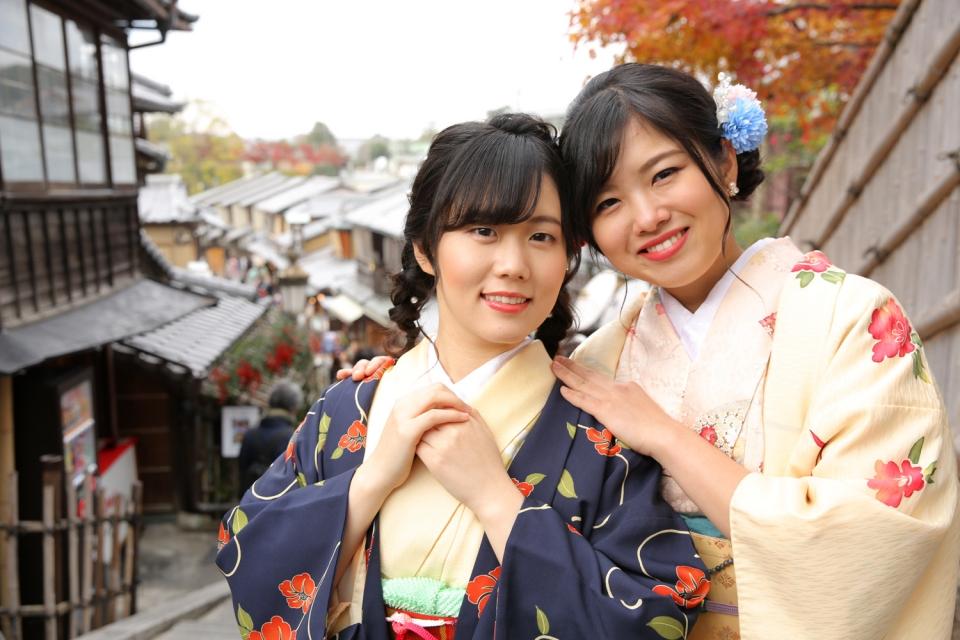 京都・東山の二年坂(二寧坂)