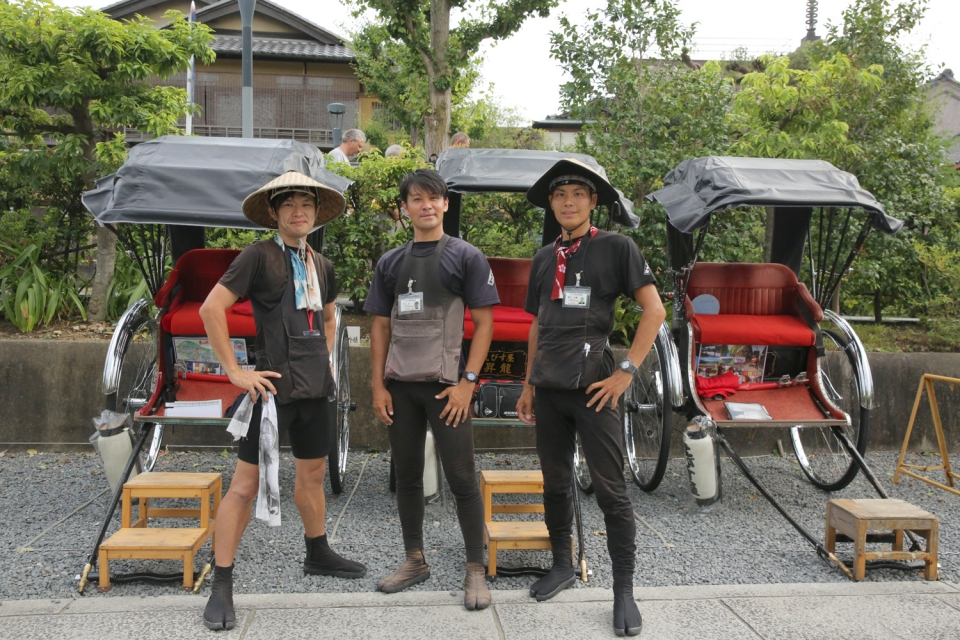 ロケーション撮影の観光人力車オプション