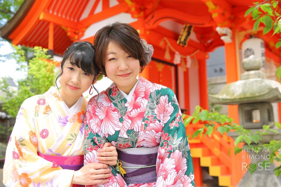 写真:京都女子旅で着物ロケ撮影♪