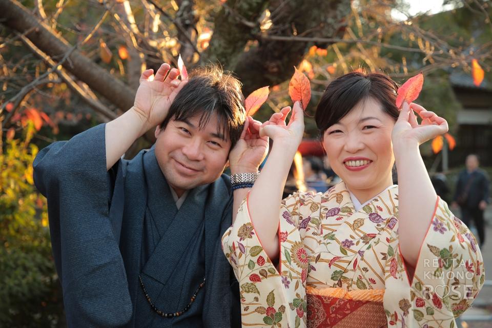 写真:アンティーク着物プランで秋の京都東山ロケ撮☆