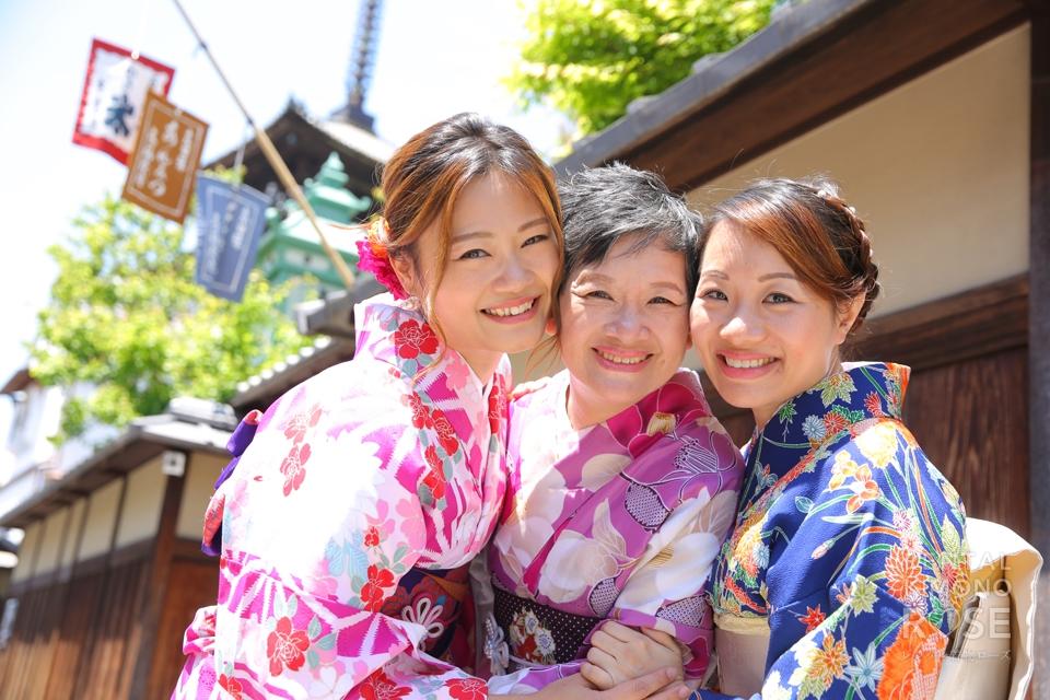 写真:海外からご家族で京都東山ロケ撮☆