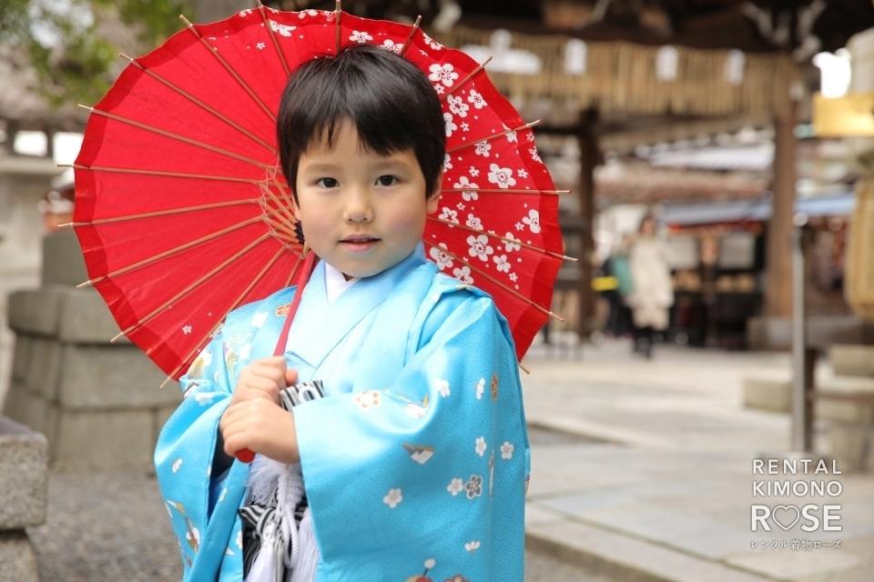 写真:京都・八坂庚申堂や八坂の塔で七五三ご家族様ロケーション撮影