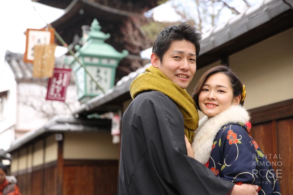 写真:新婚のラブラブお2人と着物で東山ロケ撮影♥︎