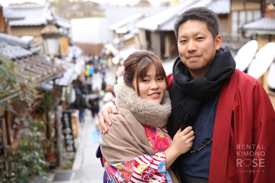 写真:笑顔いっぱいの京都東山着物旅行♥︎