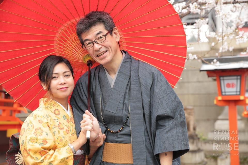 写真:桜咲く東山で、ロケーション撮影☆