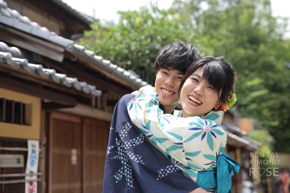 写真:とっても仲の良いカップル様と、夏の東山ロケーション撮影へ☆