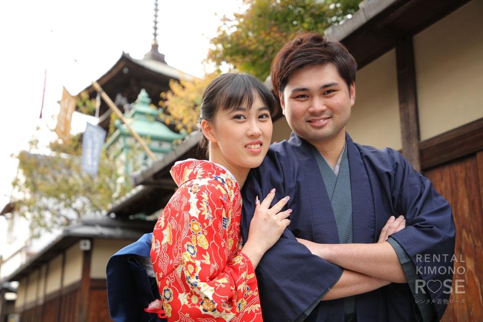 写真:着物で京都散策大人デート、東山ロケーション撮影