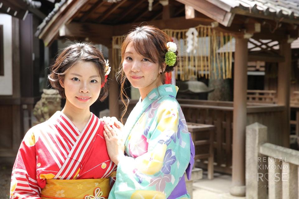 写真:夏の京都東山で女子旅×ロケーション撮影♪