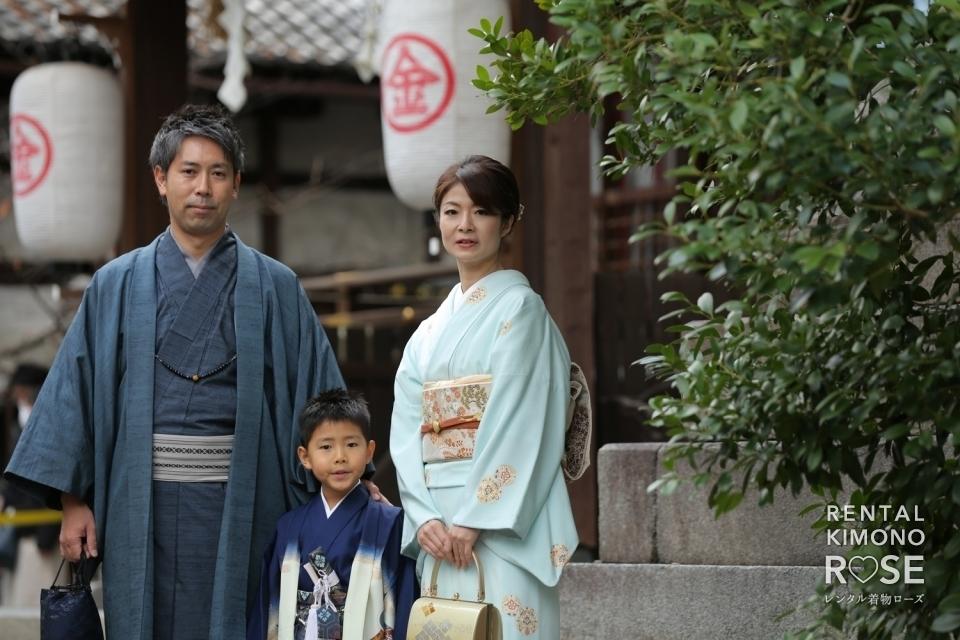 写真:京都・安井金比羅宮で七五三ご祈祷と東山ロケーション撮影