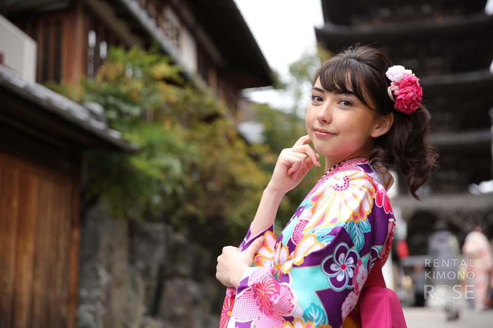 写真:着物美人様と京都東山ロケ撮☆