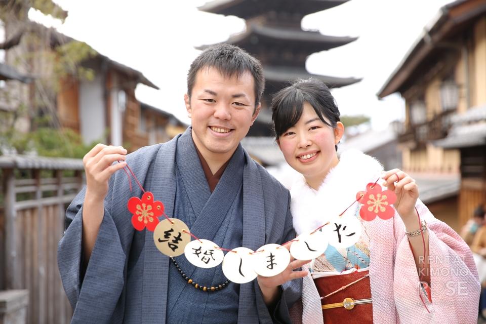 写真:新婚さんと、京都東山ロケーション撮影☆