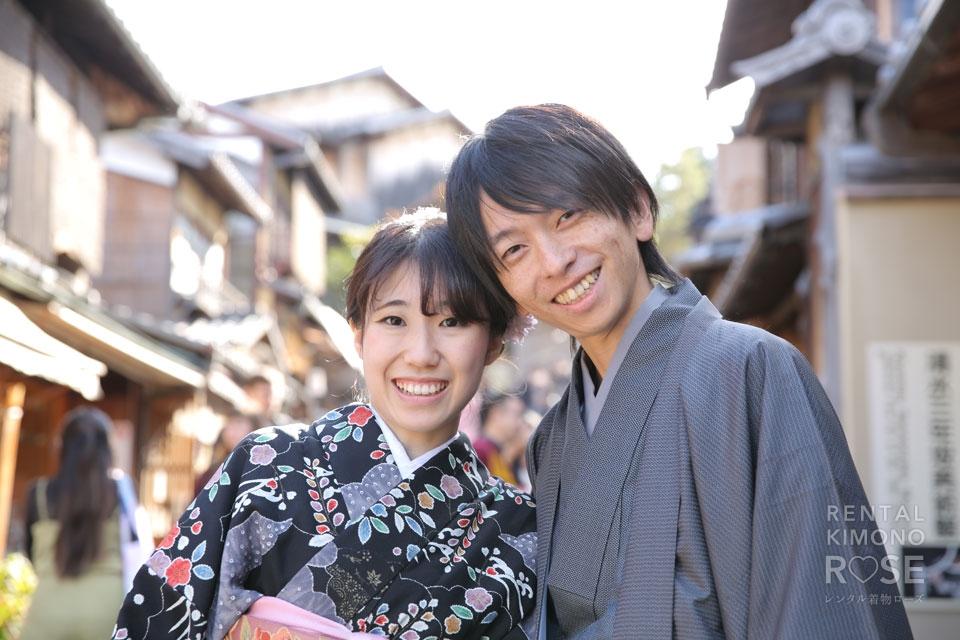 写真:二人で散策、京都東山をロケーション撮影で記念に!