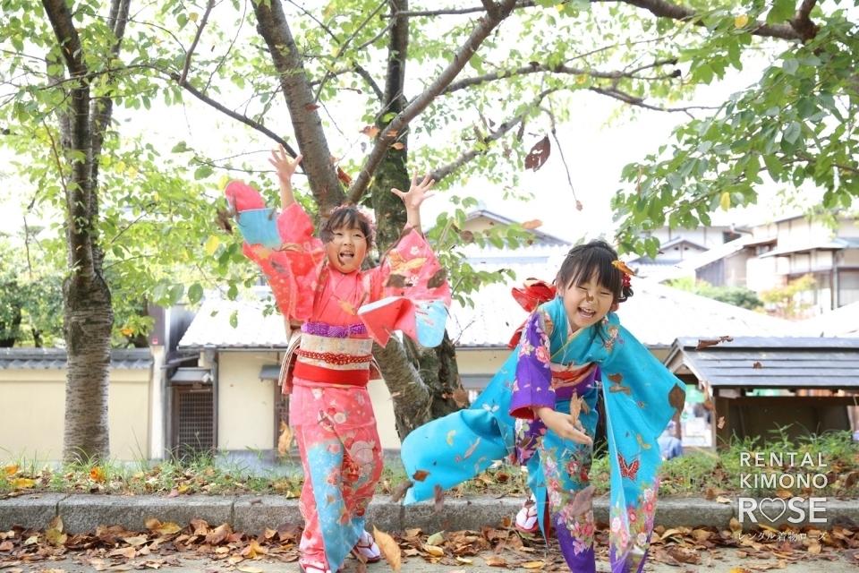 写真:京都・ねねの道で七五三ご家族&双子姉妹様ロケーション撮影