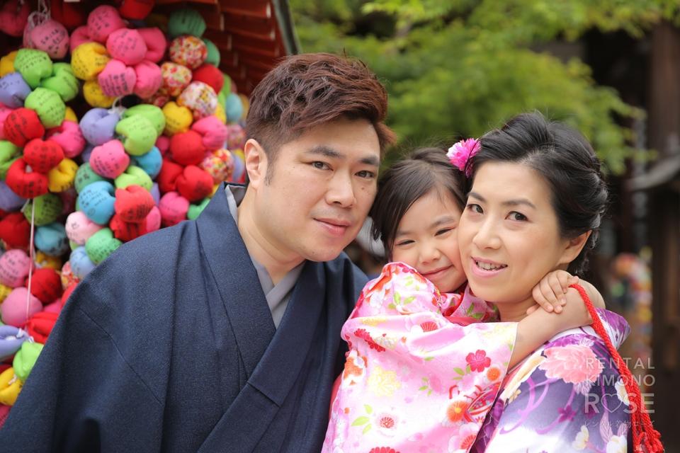 写真:海外から可愛いお嬢さんと親子で京都旅行ロケ撮影