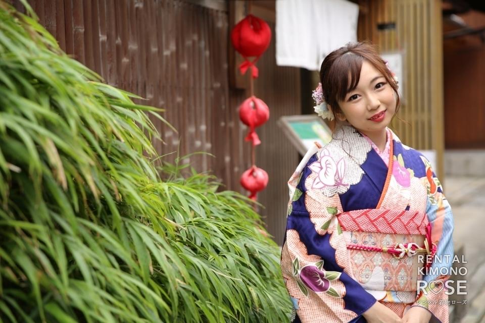 写真:京都・ねねの道で成人式振袖持ち込みロケーション撮影+ドレス撮影