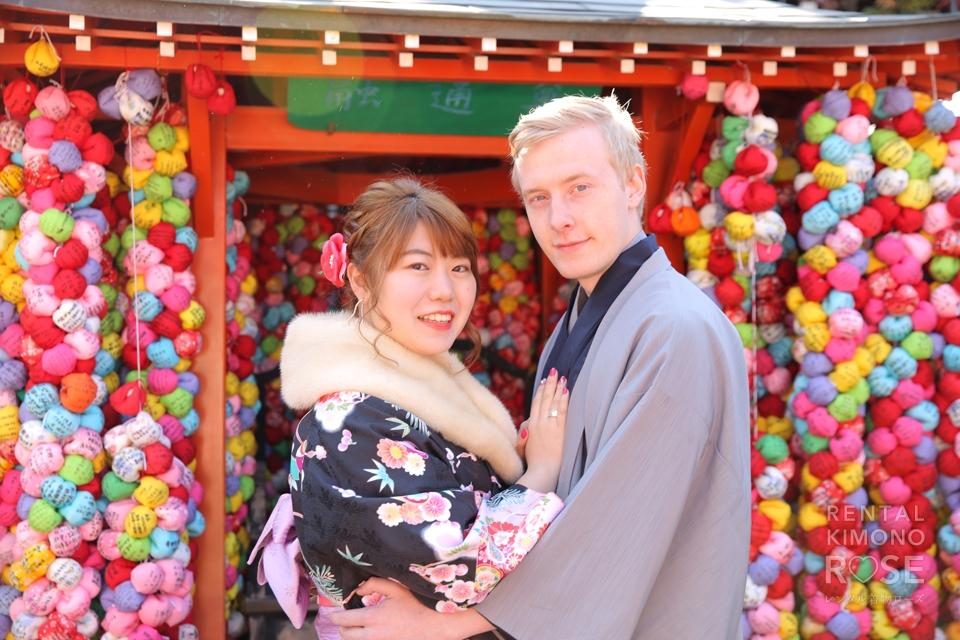 写真:国際恋愛中のお2人と東山ロケーション撮影♥︎