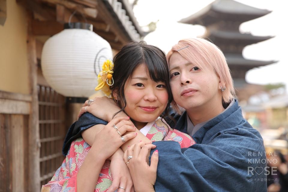 写真:春の京都東山でカップルロケーション撮影☆