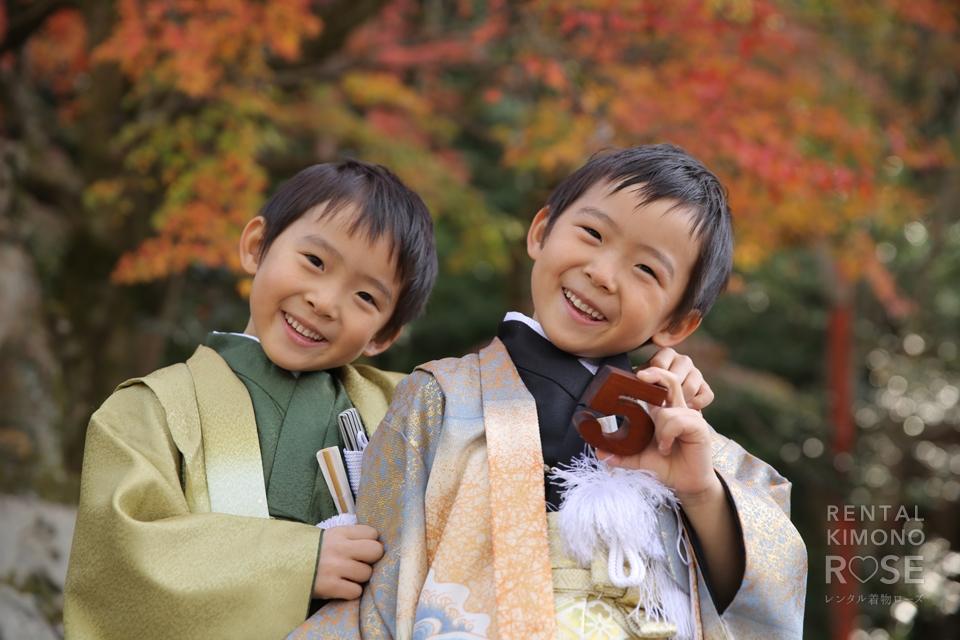写真:粟田神社さんで七五三ロケーション撮影