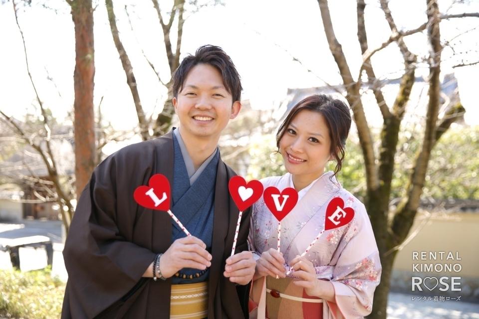写真:京都・八坂庚申堂やねねの道でカップル様の観光ロケーション撮影
