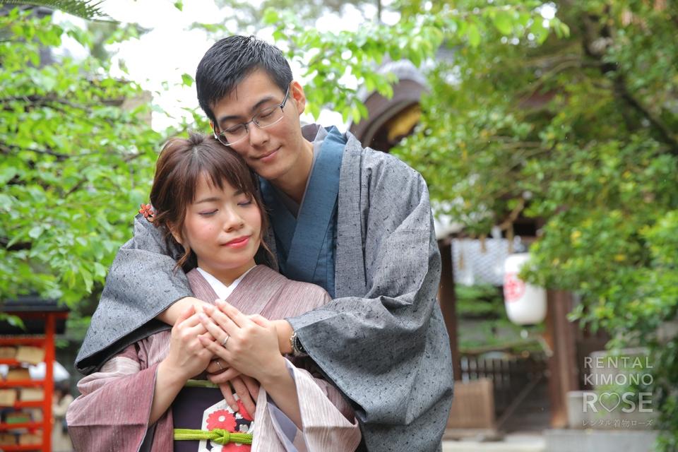 写真:仲睦まじいご夫婦と東山ロケ撮影♡