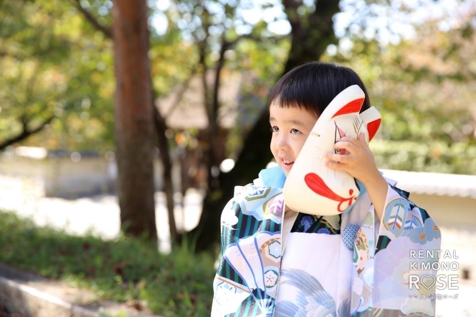 写真:京都・高台寺公園や八坂庚申堂で七五三ロケーション撮影