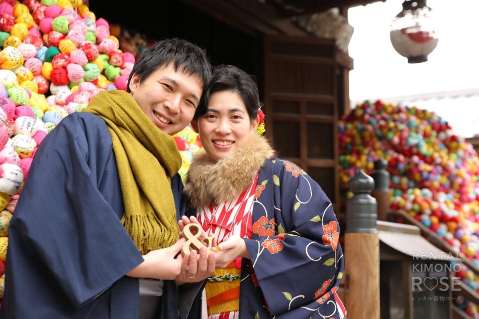 写真:仲睦まじいご夫婦と☆京都東山ロケ撮♥︎