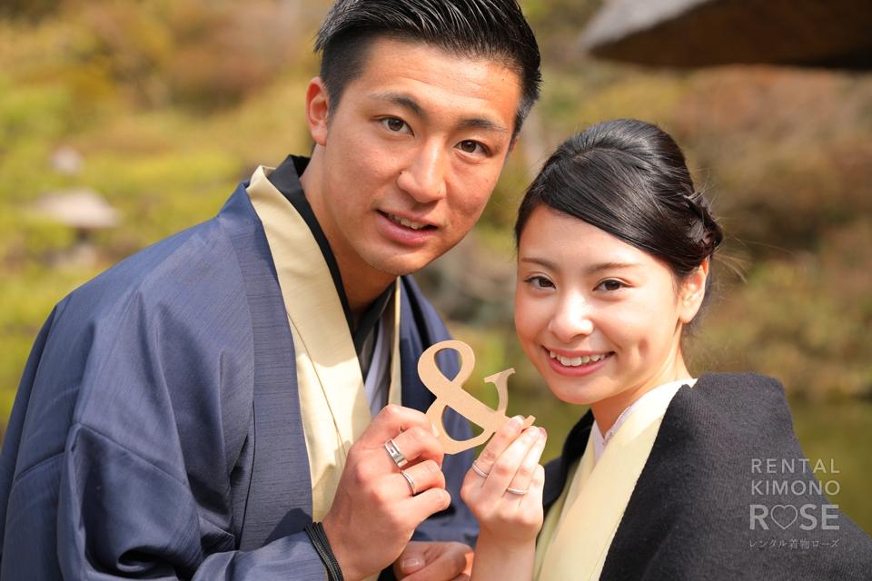 写真:はんなり着物姿が美しいご夫婦で京都ロケ撮影