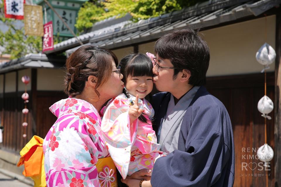 写真:東山でマタニティーフォト+家族写真ロケ撮影♥︎