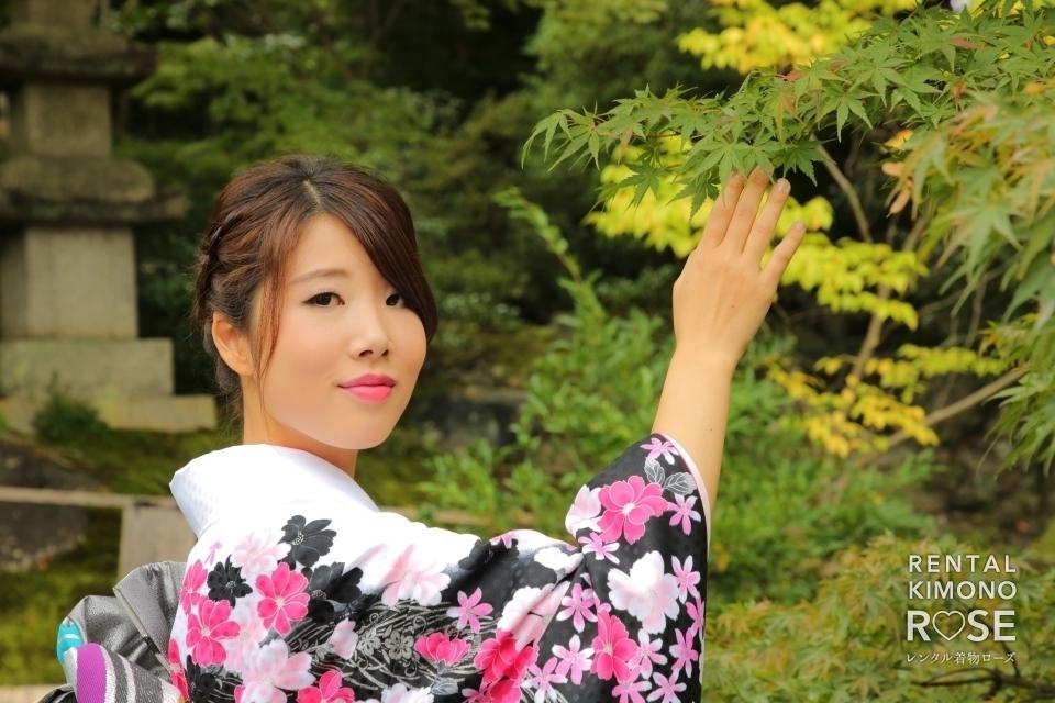 写真:京都東山にて振袖姿で艶やかな成人式前撮り