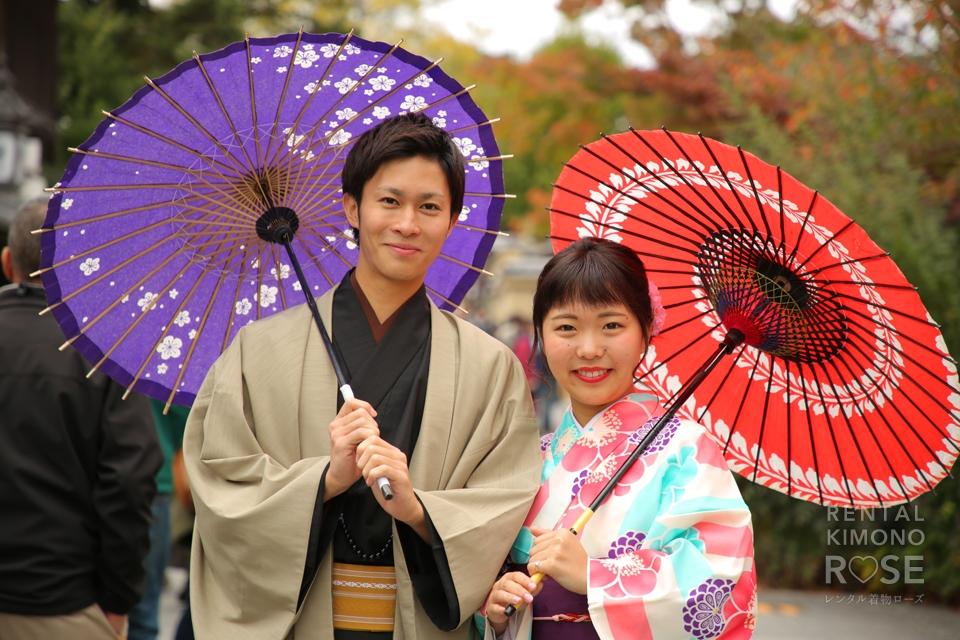 写真:スマートなエスコートで京都着物旅!ロケ撮影