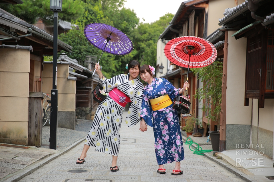 写真:壁ドン女子再来!再び浴衣で京都東山散策へ☆