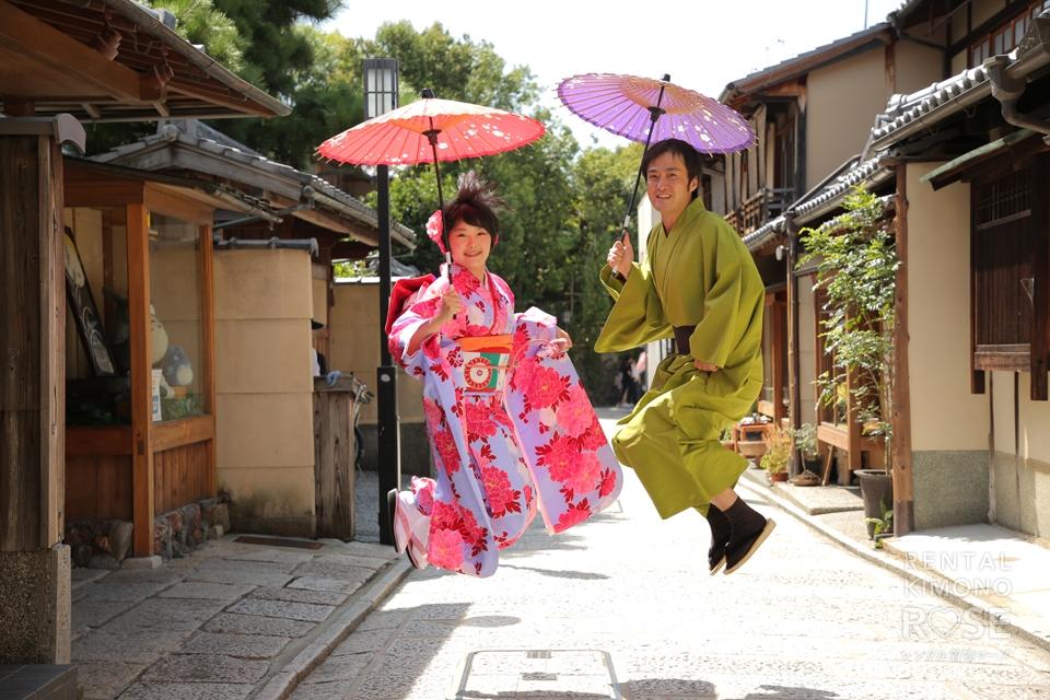 写真:京都で振袖デート