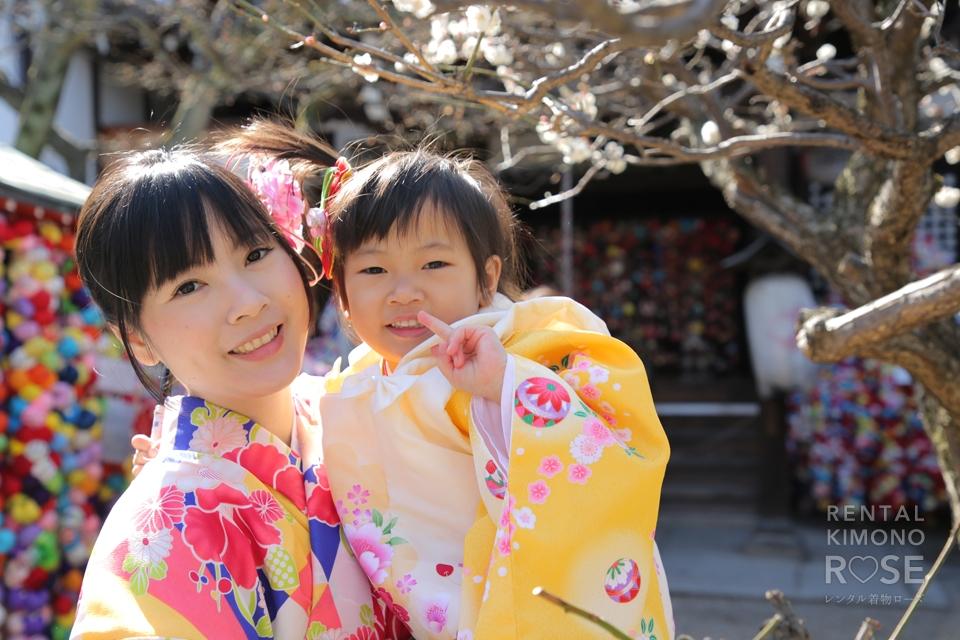 写真:海外から可愛いお嬢さんと母娘京都旅行ロケ撮影