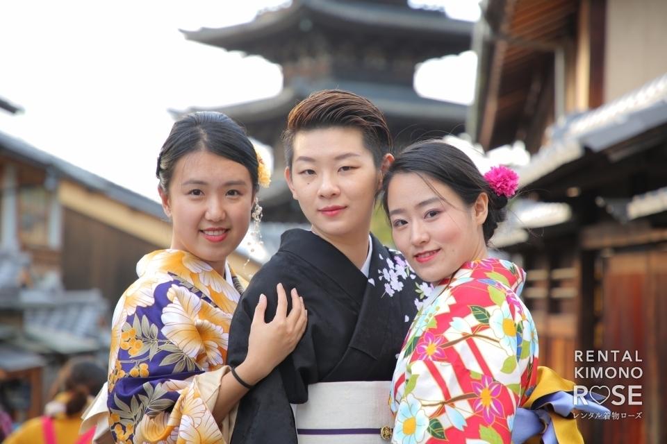 写真:色々な国から京都で同窓会!女子旅3人様ロケ撮影