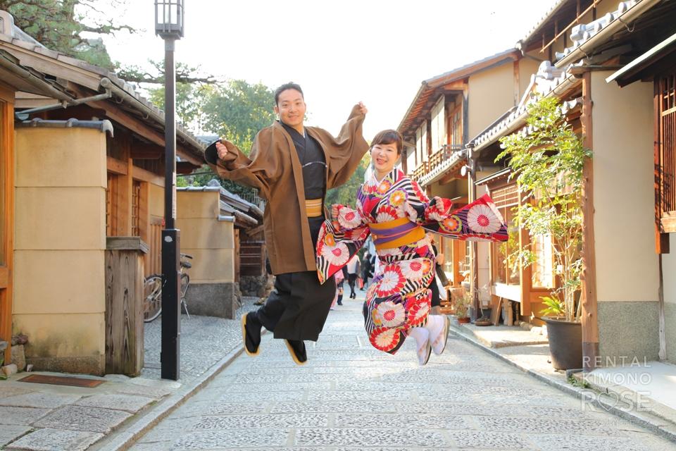 写真:結婚式を控えた新婚さまの京都旅行ロケ撮影
