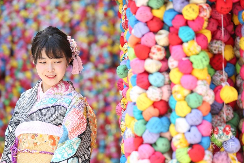 写真:総絞りの持ち込み振袖で前撮り!京都東山のロケーション撮影