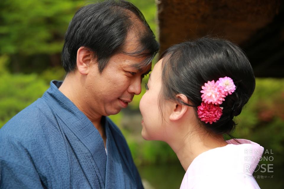 写真:海外からのご家族さま!浴衣とベビーカーで東山旅!