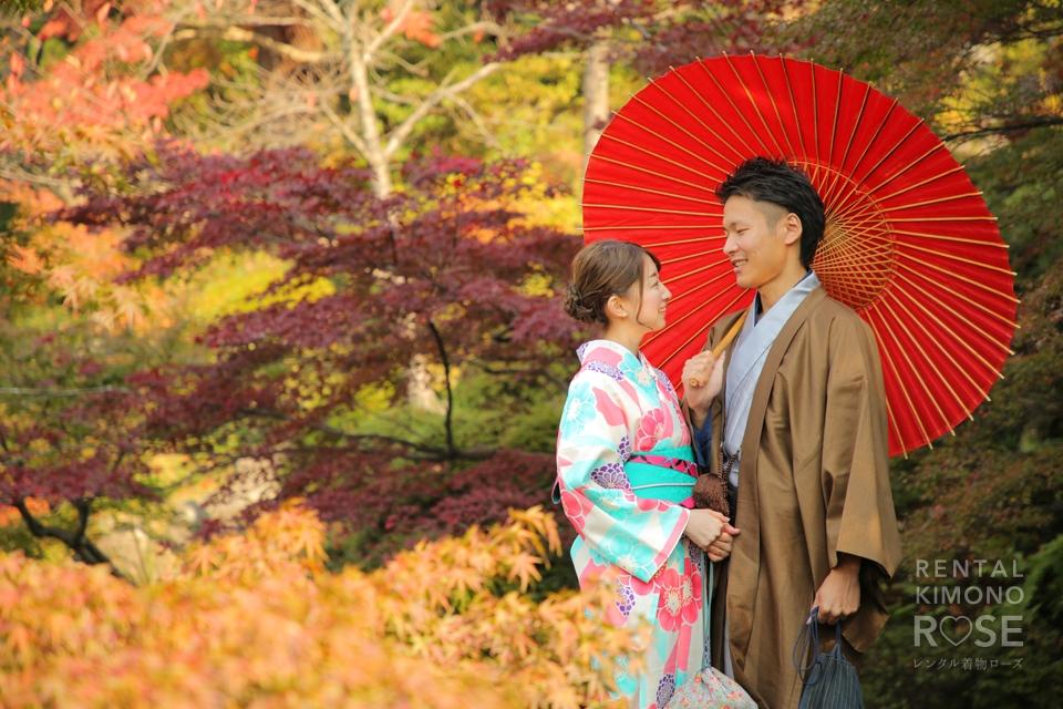 写真:八坂庚申堂から京都東山を散策デートロケ撮影