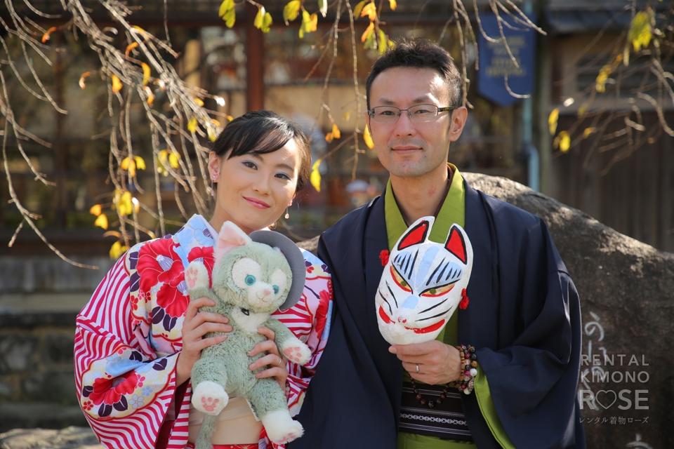 写真:華やかな着物姿で秋の京都祇園散策をロケ撮影